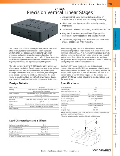 VP-5ZA Precision Vertical Linear Stages