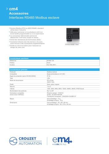 Datasheet - RS485 Modbus Slave Interfaces
