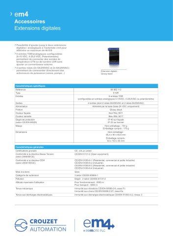 em4 Accessoires Extensions digitales