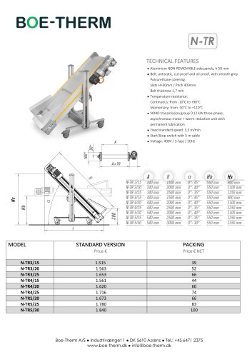 Staight conveyors