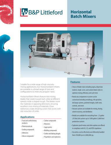 Horizontal Batch Mixers