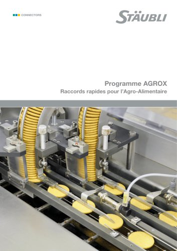 Programme RBE AGROX - Raccords rapides pour l'Agro-Alimentaire