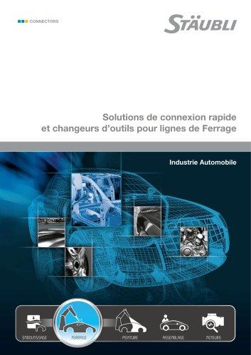 Solutions de connexion rapide et changeurs d'outils pour lignes de Ferrage Industrie Automobile