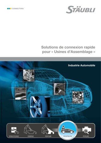 """Solutions de connexion rapide pour """"Usines d'Assemblage"""" Industrie Automobile"""