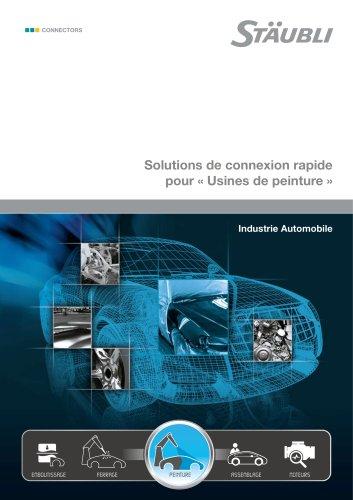 """Solutions de connexion rapide pour """"Usines de peinture"""" Industrie Automobile"""