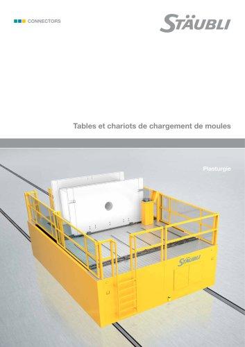 Tables et chariots de chargement de moules