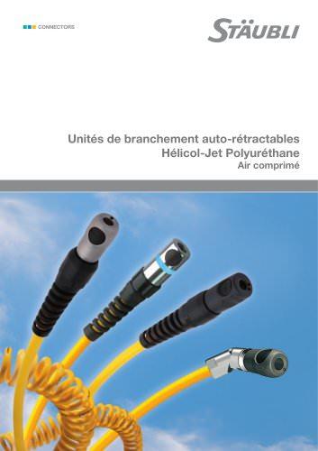 Unités de branchement auto-rétractables Hélicol-Jet Polyuréthane Air comprimé