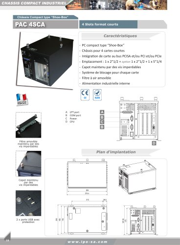 Chassis compacts industriels