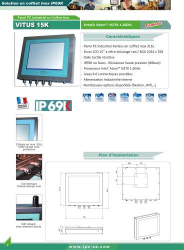 Panel PC et écran inox