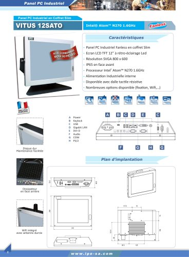 Panel Pc industriel en coffret Slim