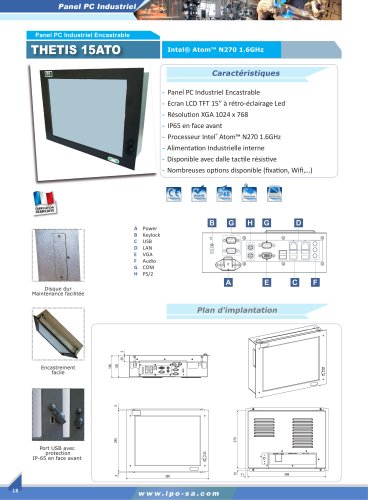 Panel PC industriels encastrables
