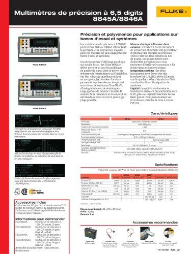 Multimètres de précision à 6,5 digits 8845A/8846A
