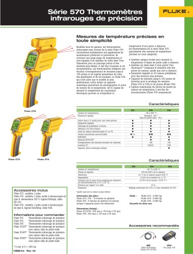 Thermomètres infrarouges de précision Fluke 570