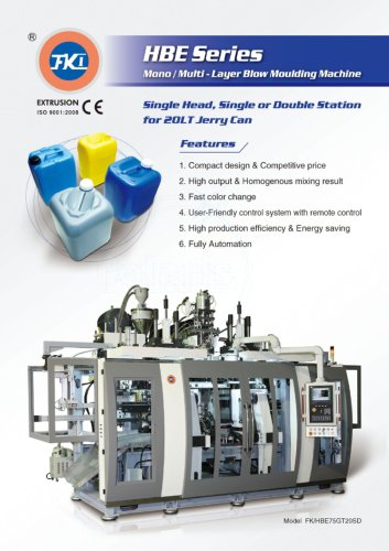 HBE Series Blow Moulding Machine