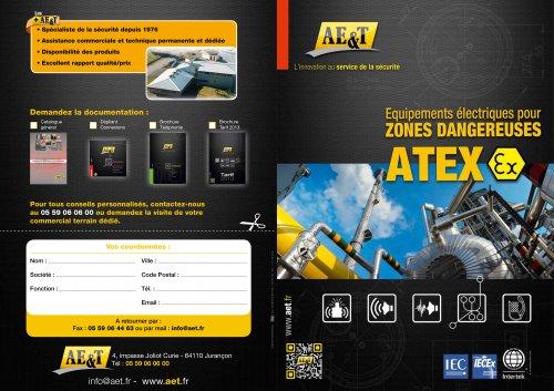 Equipements électriques pour zones dangereuses ATEX
