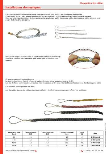 Chaussettes tire-câbles