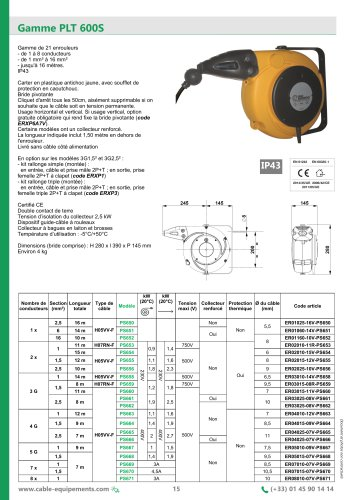 Gamme PLT 600S
