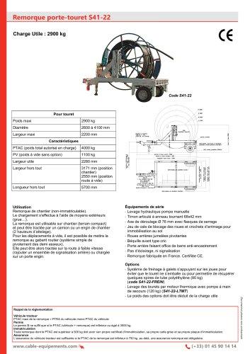 Remorque porte-touret S41-22
