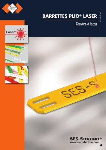 Barrettes PVC et PE gravées laser