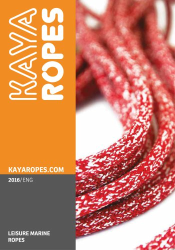 Kaya Ropes Leisure Marine 2016