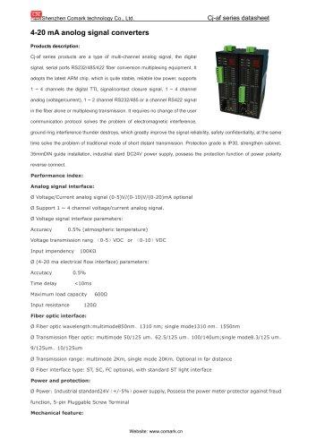 Comark 4-20 mA anolog signal converter  Cj-af11/12 in power station