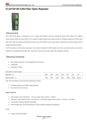 Comark CAN Fiber Optic Repeater Ci-af110/120