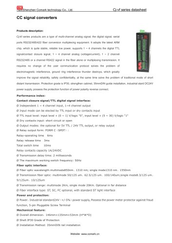Comark CC signal converters Ci-kf11/12 for Monitoring system
