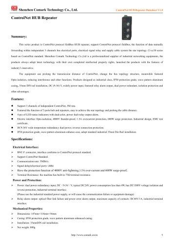 Comark ControlNet HUB Repeater Ci-cc30