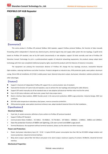 Comark Profibus DP HUB Repeater Ci-pp30 in power station application
