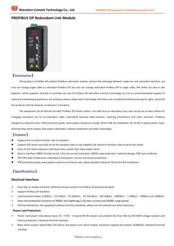 Comark Profibus DP Redundant Link Module Ci-pp21