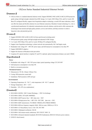 Comark Standard 100M Industrial Ethernet Switch CK2xxx Series