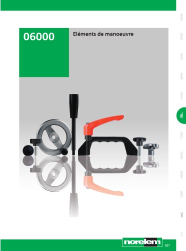 Éléments standard mécaniques - Éléments de manoeuvre