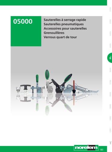 Éléments standard mécaniques - Sauterelles - Verrous quart de tour