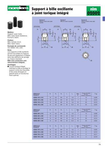 Support à bille oscillante à joint torique intégré
