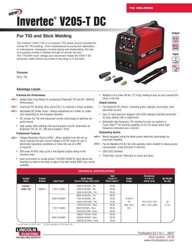 Invertec® V205-T DC