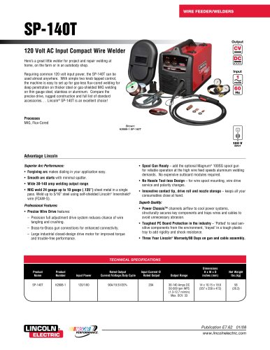 MIG Welders at a Glance SP-140T