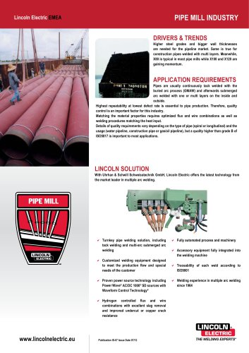PIPE MILL Industry