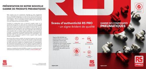 RS PRO Gamme des Composants Pneumatiques