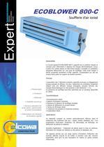 Soufflerie d'air ionisé ECOBLOWER 800-C