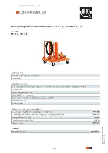 Mobile pre-filter unit 3-537-R001