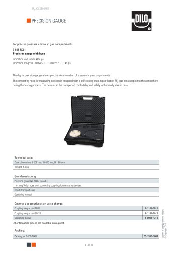 Precision gauge 3-558-R001 / R002