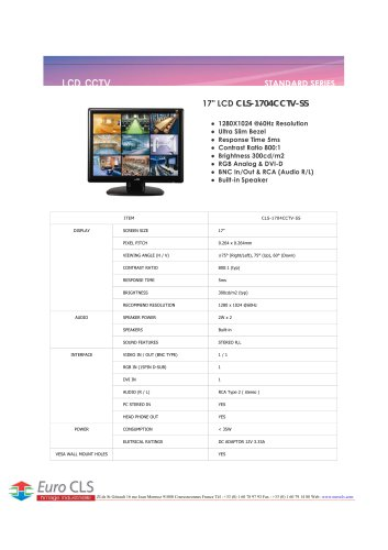 CLS-1704CCTV-SS