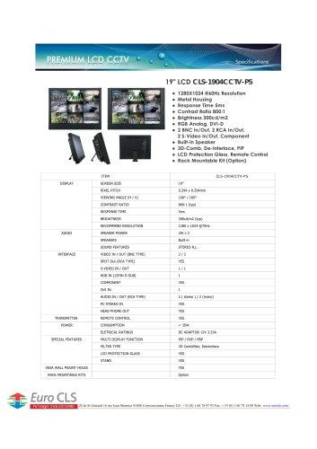 CLS-1904CCTV-PS