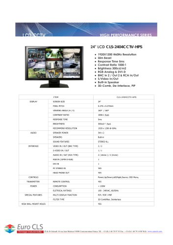 CLS-2404CCTV-HPS