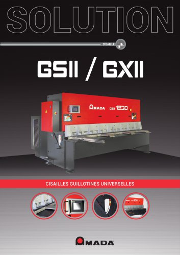 Cisailles guillotines GS II/ GX II