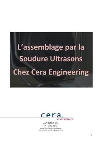 L'assemble par soudure ultrasons chez Cera Engineering