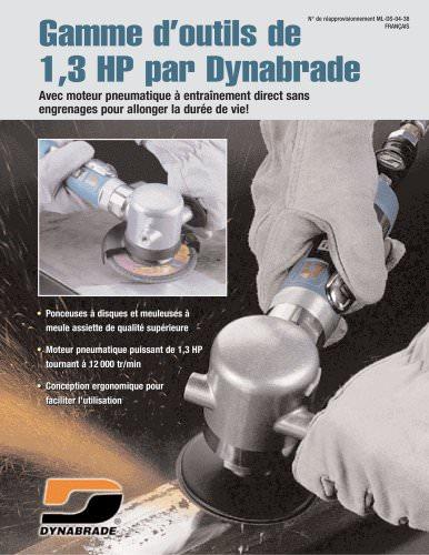 Gamme d'outils de 1,3 HP par Dynabrade
