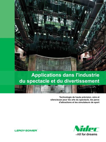 Applications dans l'industrie du spectacle et du divertissement