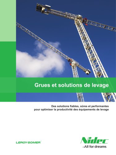 Grues et solutions de levage