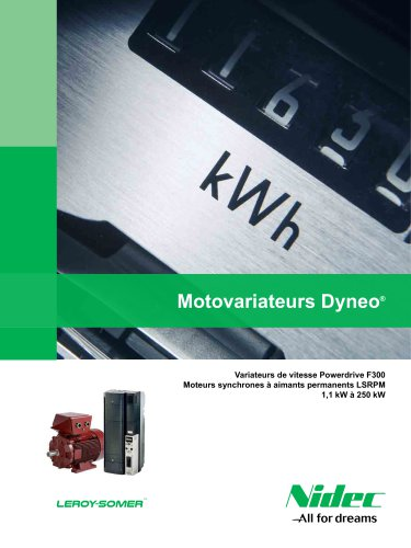 Motovariateurs Dyneo: Powerdrive F300 + LSRPM